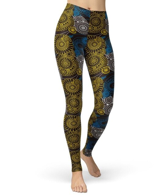 Women Steampunk Printed Leggings Vintage Mechanical Medieval Patterned Fashion Streetwear Brushed Buttery Soft Skinny Trousers