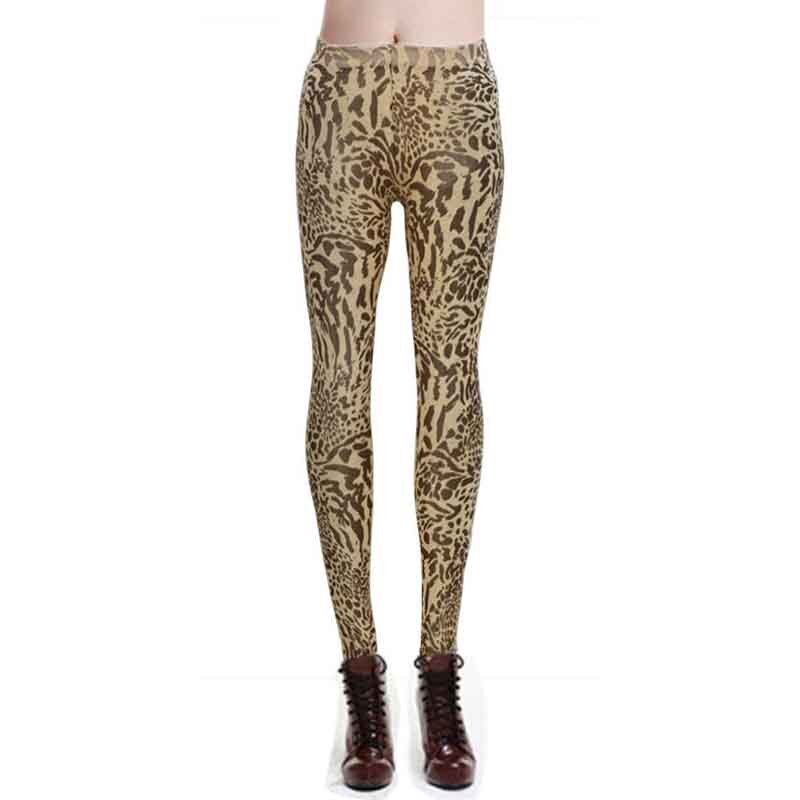 Fashion Leopard Printed Womens Leggings Pants Slim High Waist Elasticity Legging Femme leggins Women Trousers