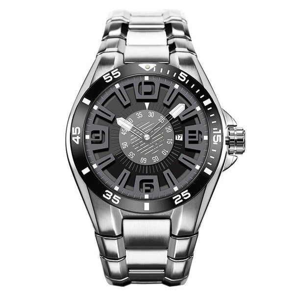 Iron silver watch