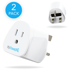 US To UK Travel Adaptor (2 Pack)