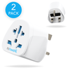 World To UK Travel Adaptor (2 Pack)