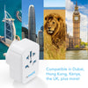 World To UK Adaptor With 3 USB Ports (Type G)
