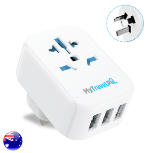 Australia China Travel Adaptor With 3 USB Ports (Type I)