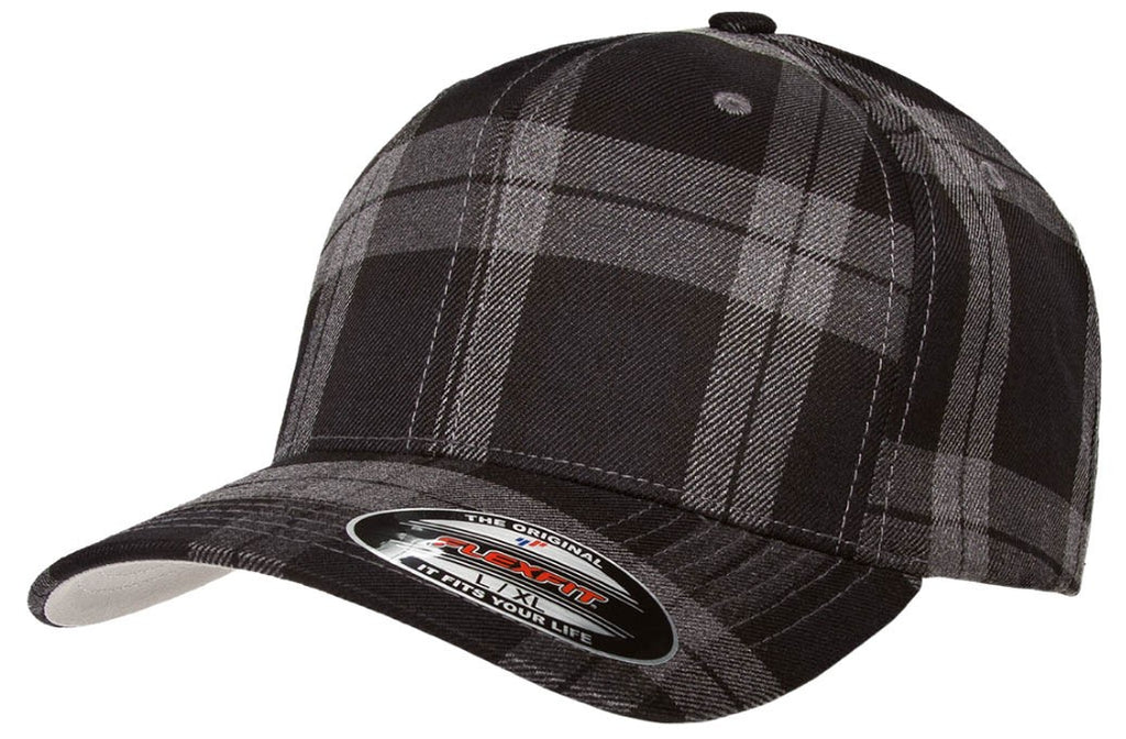 Flexfit Tartan Plaid - Black-grey