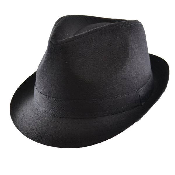 Black Plain Trilby Hat
