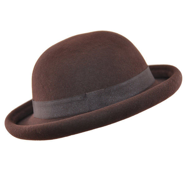 Maz Packable Wool Bowler Hat