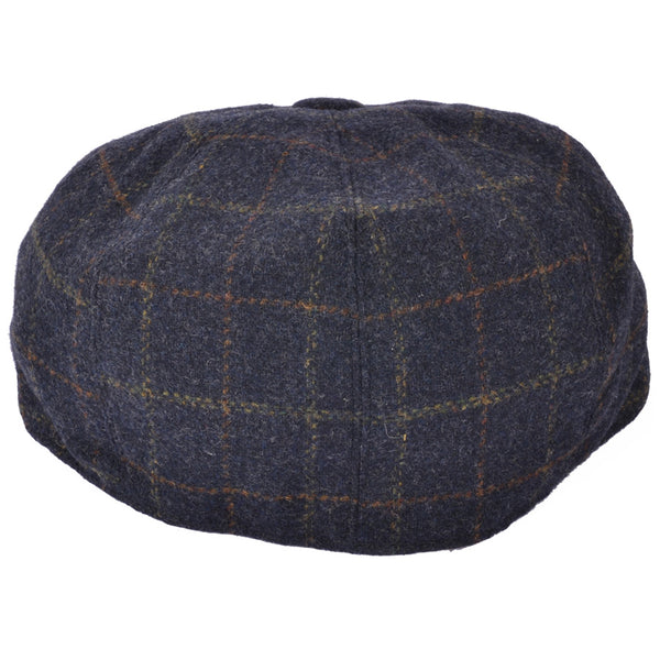 Check Newsboy Cap - Blue