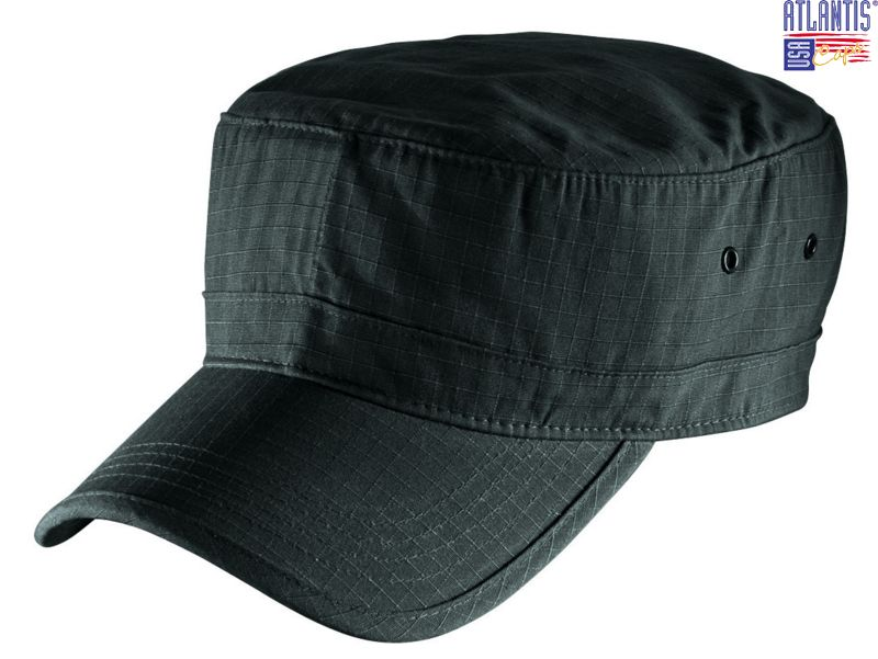 Black Cotton Army Cap