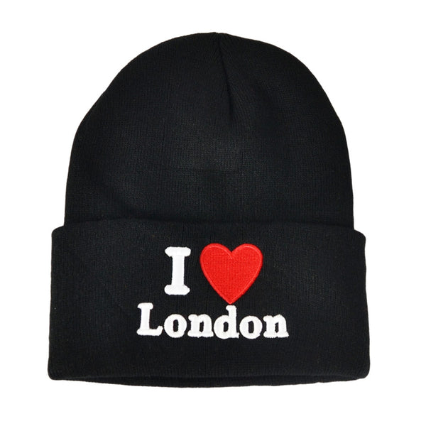 I Love London Beanie Hat - Black,Grey.Pink,Orange,