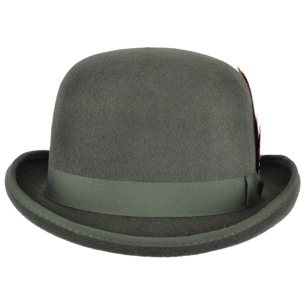 Felt Derby Hat - Olive-Green