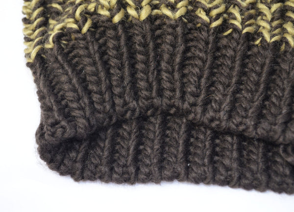 PHW Ribbed Beanie Hat - Black-Yellow