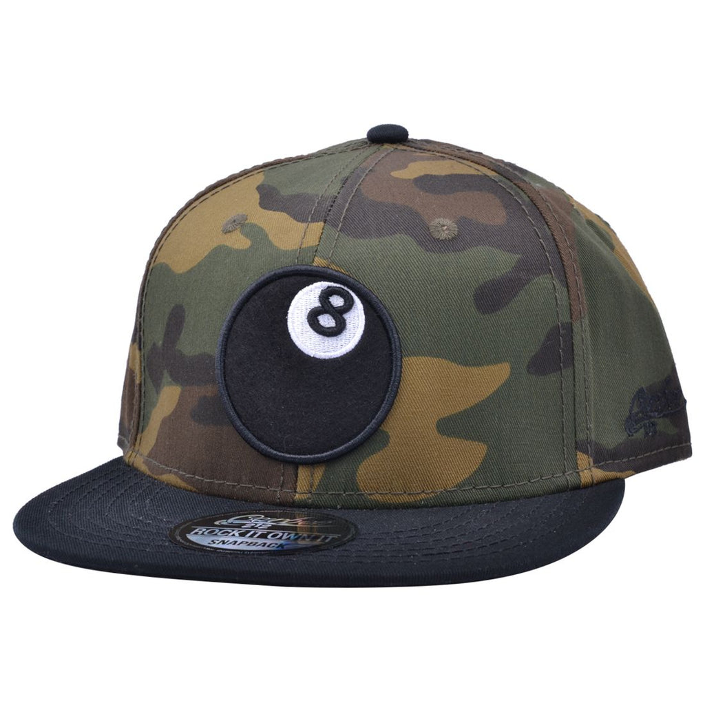 CARBON 212 8 BALL SNAPBACK - CAMOUFLAGE
