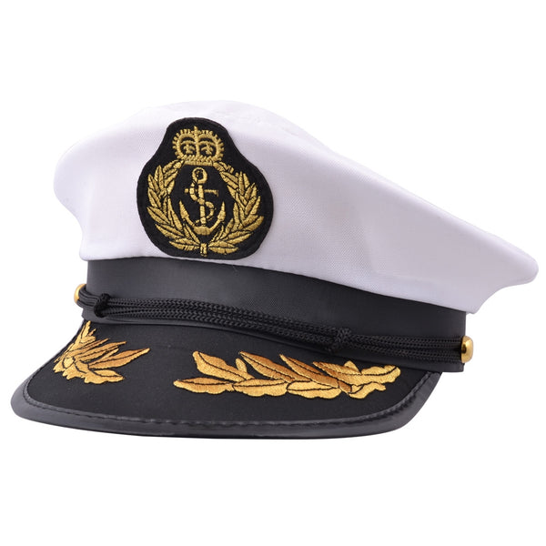 Captain Costume Yacht Hat - White