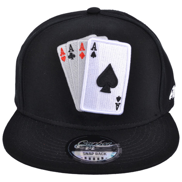 Card Snapback Cap - Black
