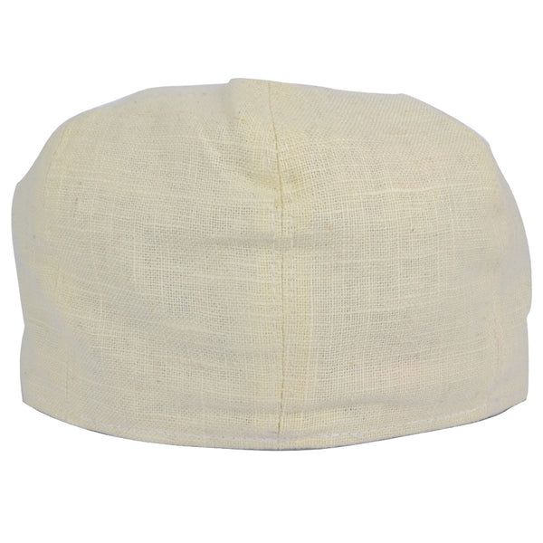 G&H Linen Newsboy Cap - Cream