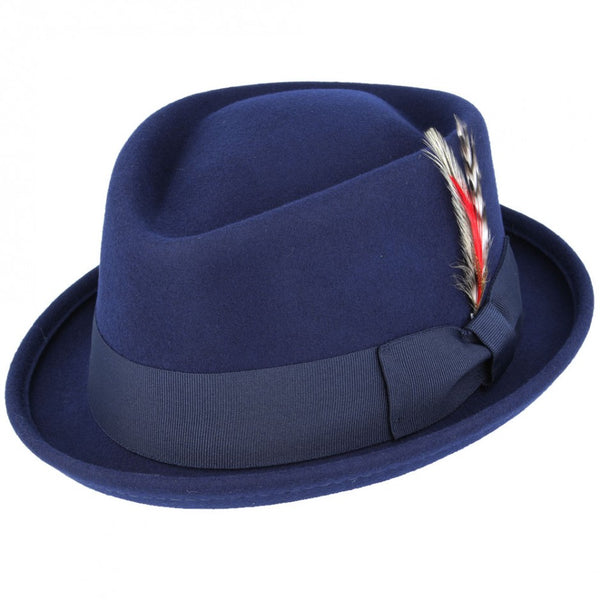 Wool Diamond Crown Pork Pie Hat