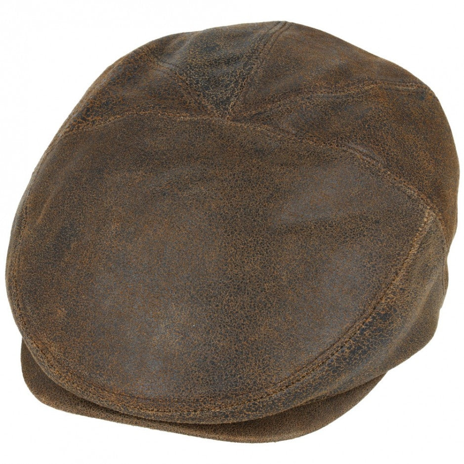 Gladwinbond Vintage Sheep Skin Leather Flat Cap