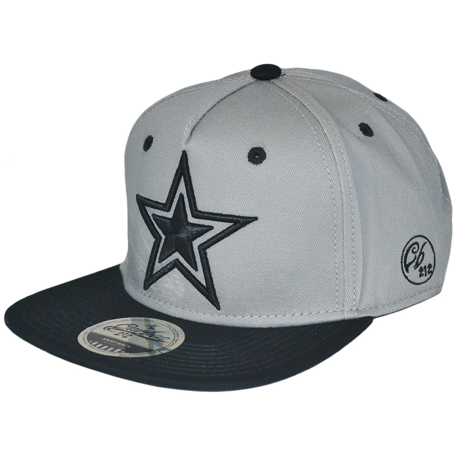 Star Snapback Cap - Grey