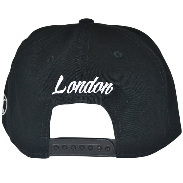 London Snapback Cap - Black