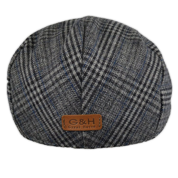 G&H Check Flat Cap - Grey