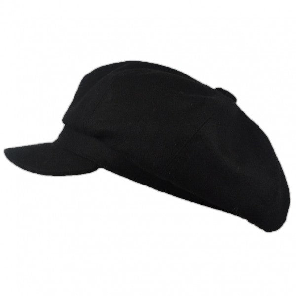 Wool Bakerboy Cap - Black