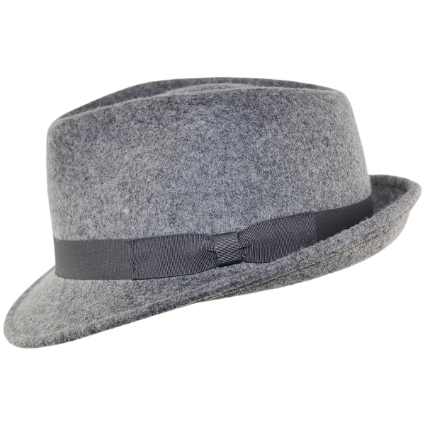 Felt Trilby Hat - Mix-Grey