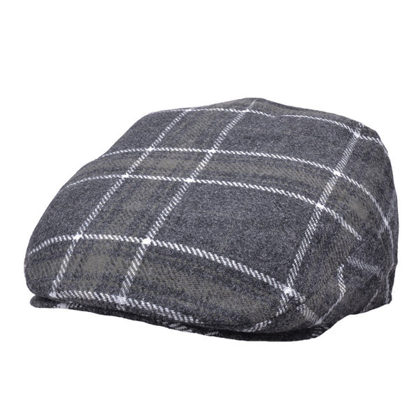 G&H Wool Window Check Flat Cap