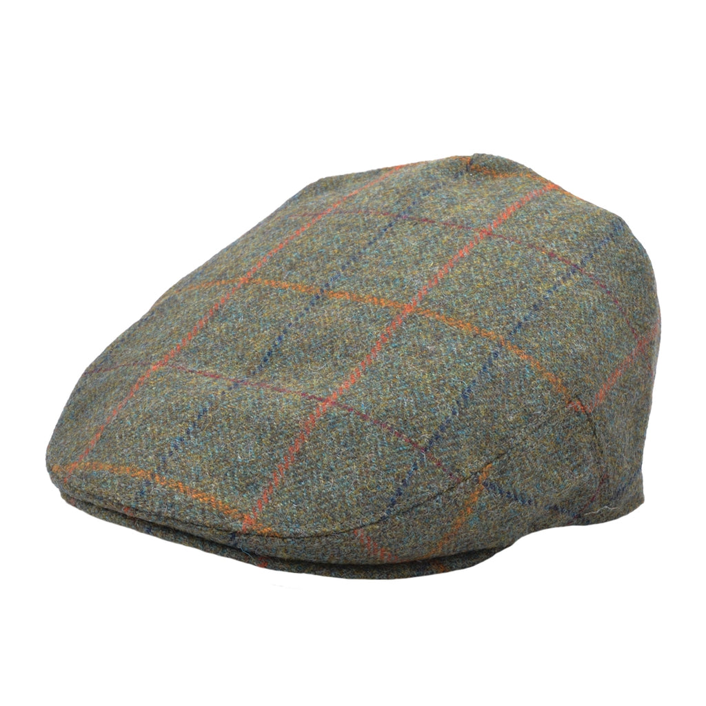 G&H Wool Check Tweed Flat Cap