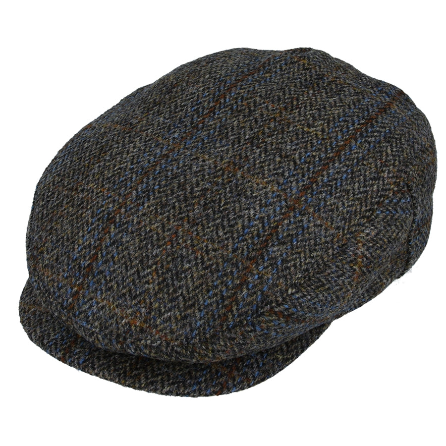 Harris Tweed 100% Wool Herringbone Flat Cap