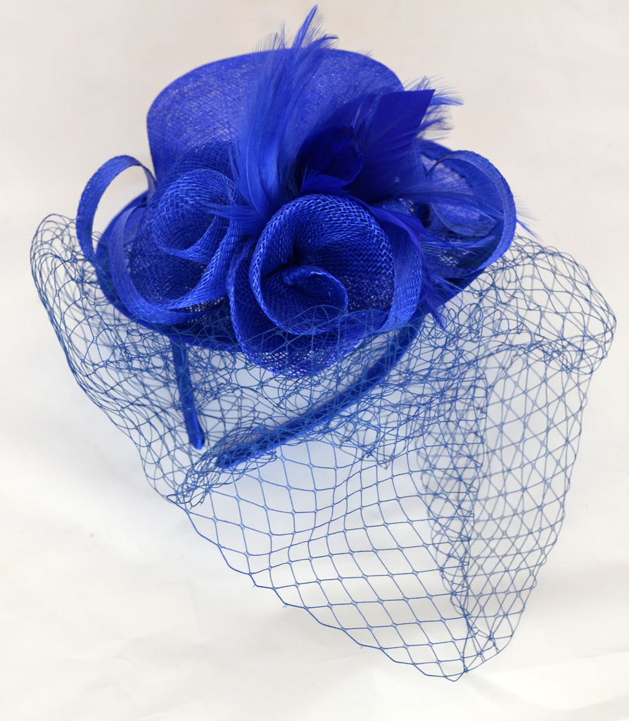 Camden Wedding Fascinator - Blue