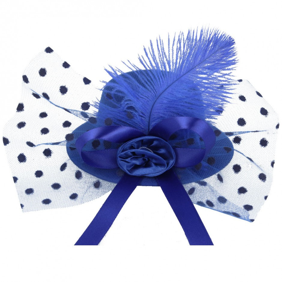 Maz Mini Top Hat Fascinator With Elegant Feather & Bow