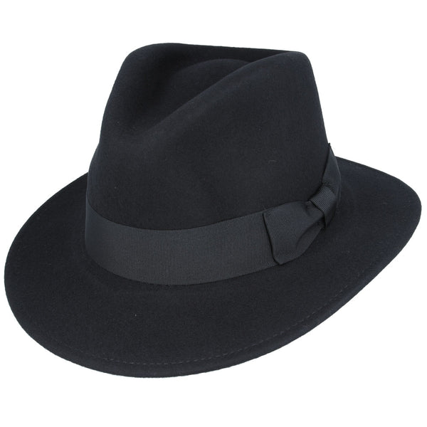 Maz Wool Felt Crushable Fedora Hat