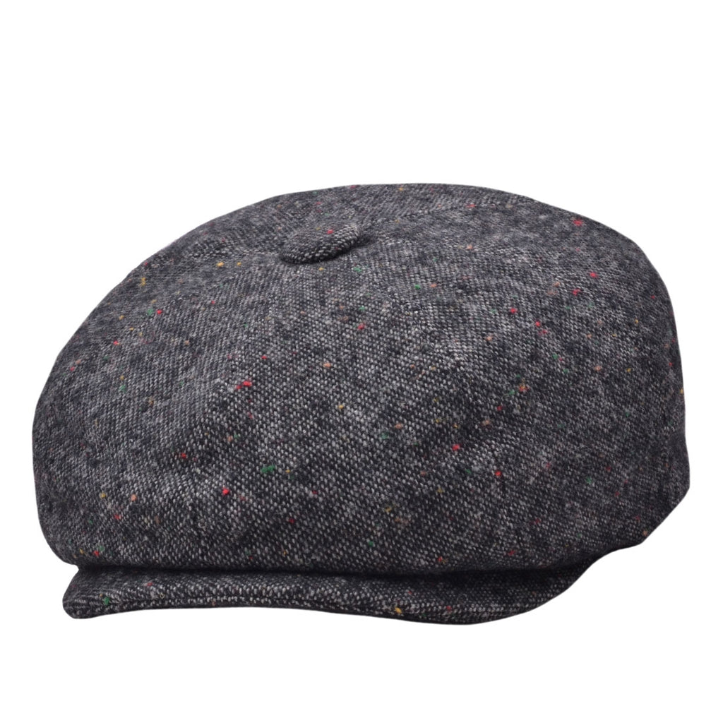 G&H Salt & pepper Gatsby Newsboy Cap - Grey,Brown