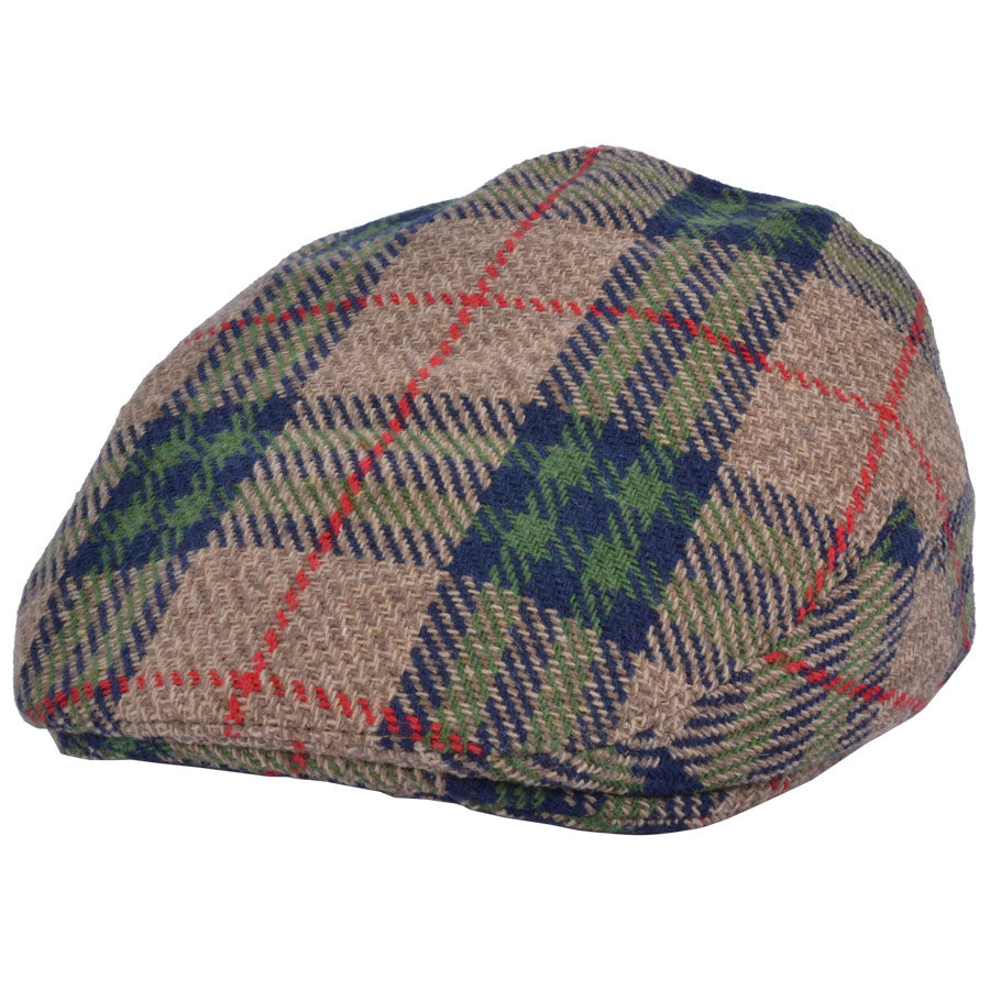 G&H Wool Scottish Tartan Check Flat Cap