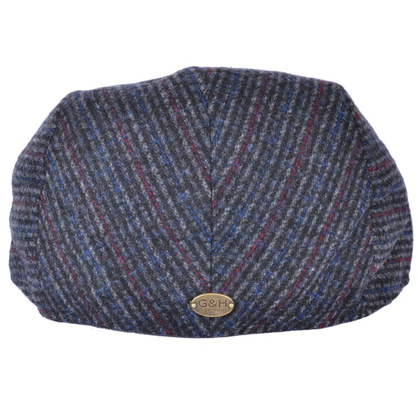 G&H Tweed Flat Cap - D-Blue