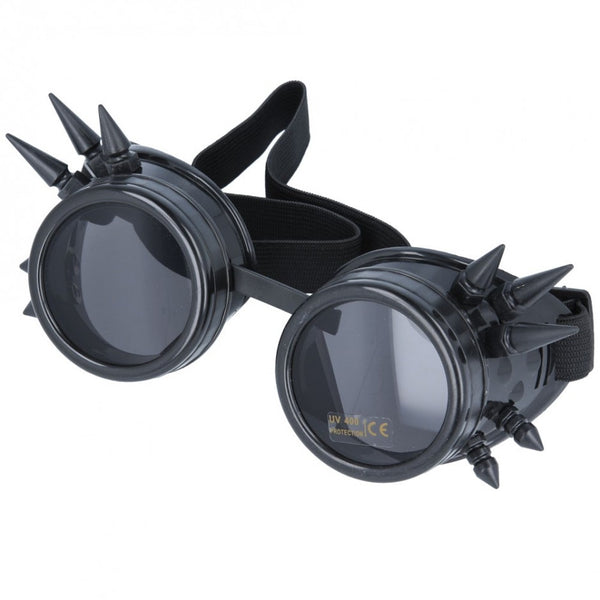 Maz Vintage Steampunk Spike Goggles Glasses Cyber Punk Gothic