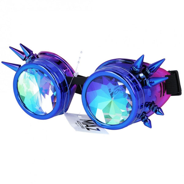 Maz Kaleidoscope Steampunk Spike Goggles Glasses Cyber Punk Gothic
