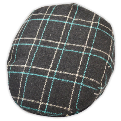 G&H Check Flat Cap - Multi-colour
