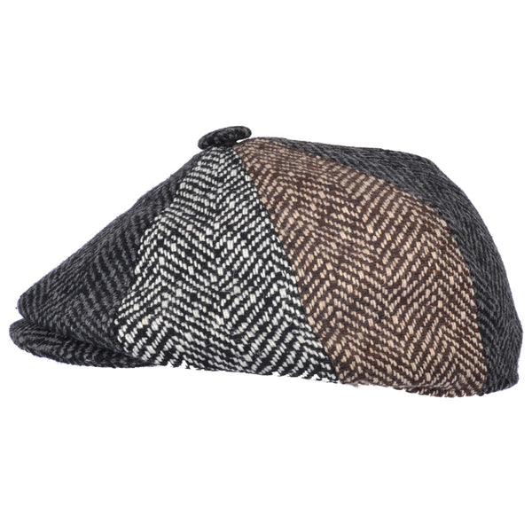 G&H Herringbone Patch Newsboy Cap