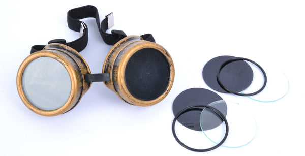 Steampunk Top Hat With Goggles - Copper