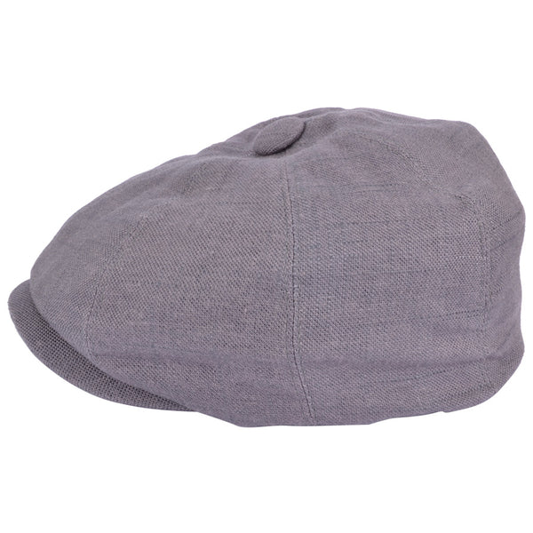 G&H Linen Newsboy Cap - Grey