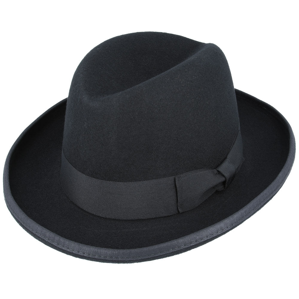 Gladwin Bond Wool Homburg Hat - Black