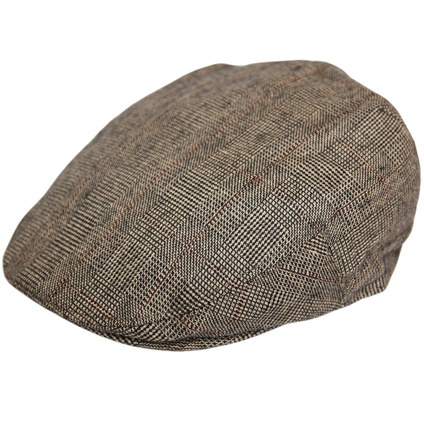 G&H Prince of Wales Check Flat Cap