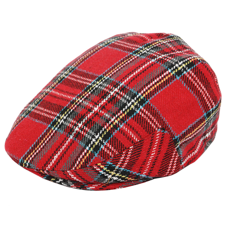 G&H Scottish Tartan Flat Cap