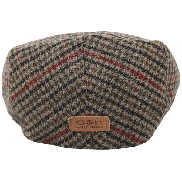 G&H Tweed Flat Cap - Multi-colour