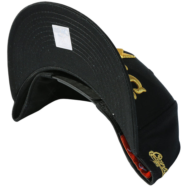 Anchor Snapback Cap - Black - Gold