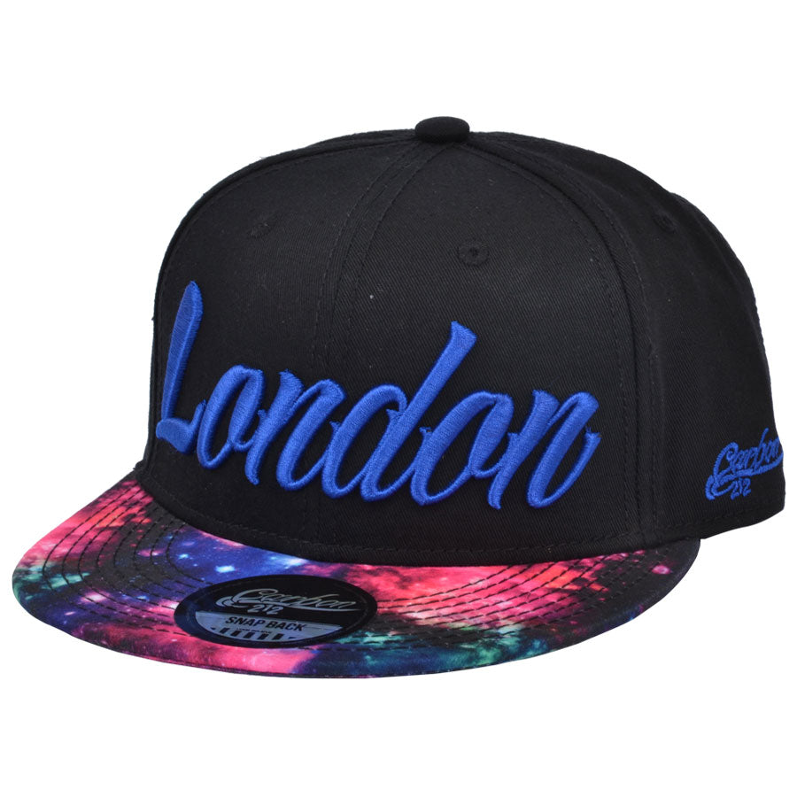 London Galaxy Snapback Cap - Black