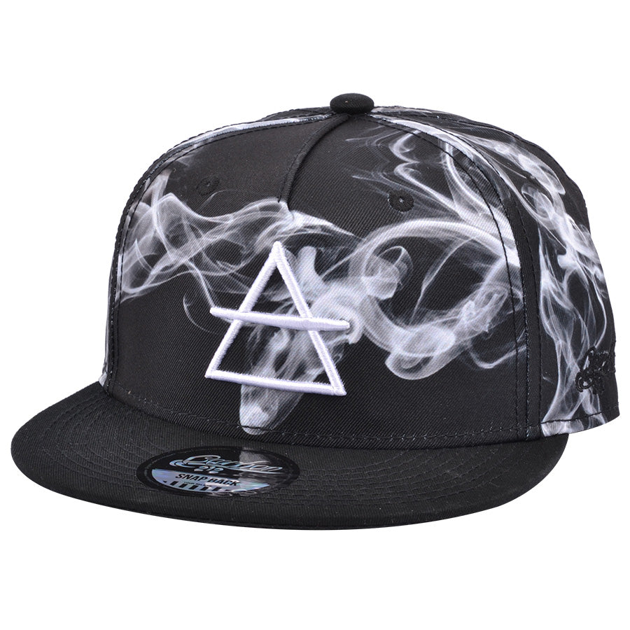 Carbon212 Smoke Air Sign Snapback Cap