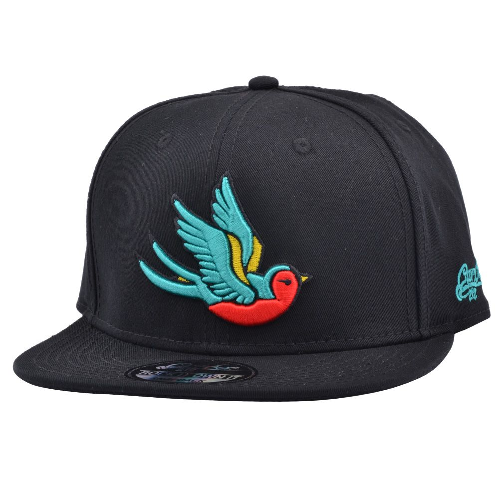 CARBON212 OLD SCHOOL SWALLOW SNAPBACK - BLACK