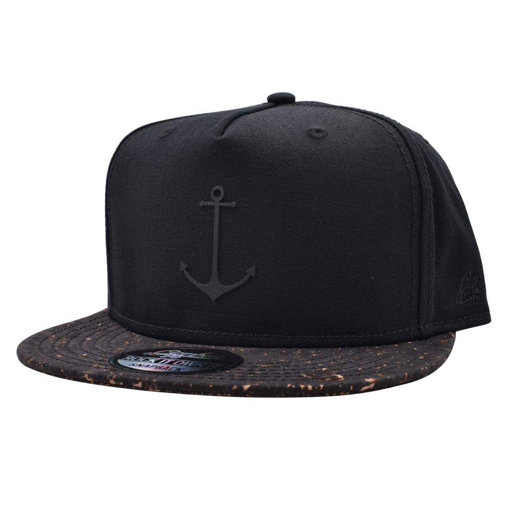 CARBON212 ANCHOR CORK PEAK SNAPBACK – BLACK